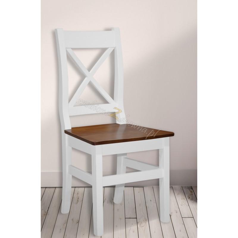 Białe krzesło drewniane Roma 39 do salonu>                                         <span class=