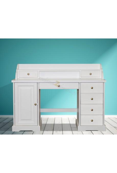 Nowoczesne biurko drewniane Parma 38 w kolorze białym