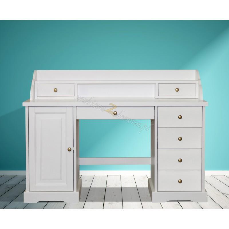 Nowoczesne biurko drewniane Parma 38 w kolorze białym>                                         <span class=