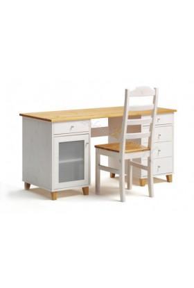 Białe biurko drewniane Siena 14 w stylu skandynawskim