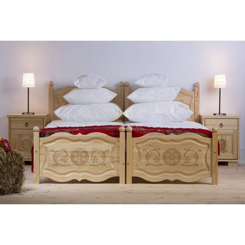 Drewniane łóżko Góralskie 29 do sypialni>                                         <span class=