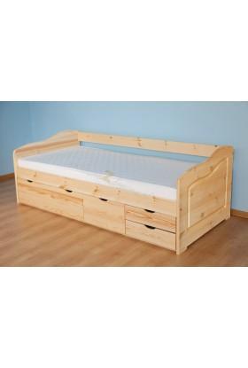 Łóżko Klasyczne 15 z litego drewna sosnowego