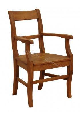 Rustykalny fotel drewniany Hacienda P do salonu