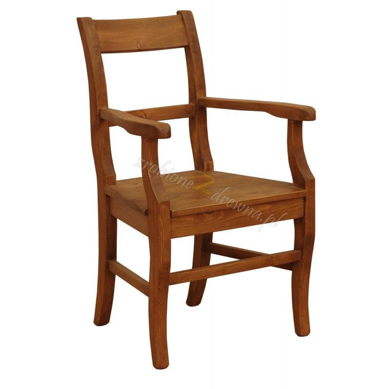 Rustykalny fotel drewniany Hacienda P do salonu>                                         <span class=