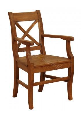 Fotel z litego drewna Hacienda X w stylu retro