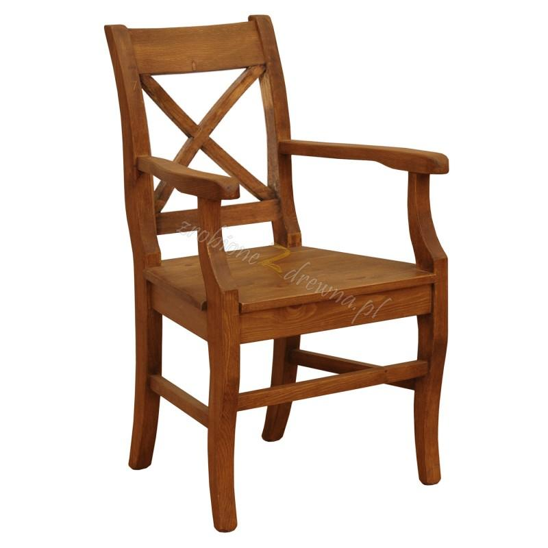 Fotel z litego drewna Hacienda X w stylu retro>                                         <span class=