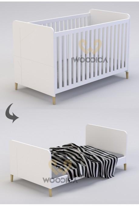 Łóżeczko dwufunkcyjne rozkładane Mikka 11