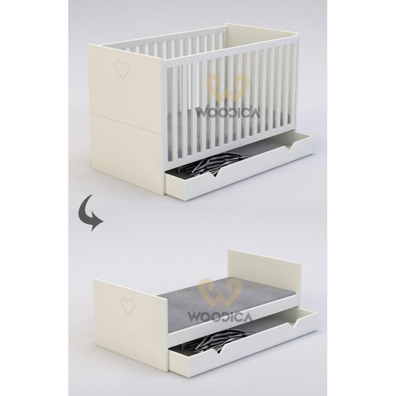 Łóżeczko dwufunkcyjne rozkładane Home 17>                                         <span class=