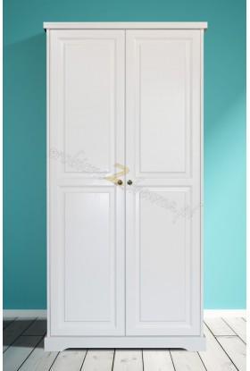Biała szafa drewniana Parma 01 w stylu nowoczesnym
