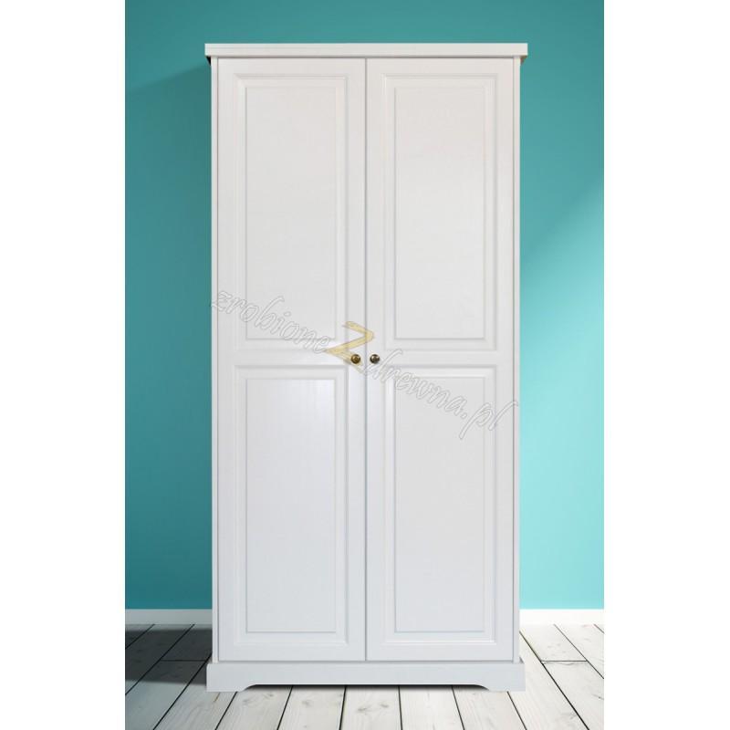 Biała szafa drewniana Parma 01 w stylu nowoczesnym>                                         <span class=