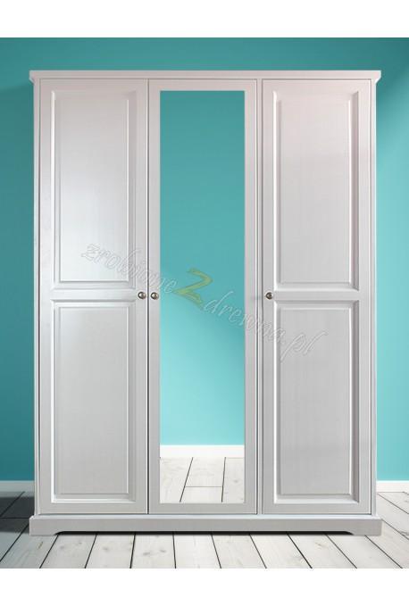 Nowoczesna szafa drewniana Parma 03 w kolorze białym