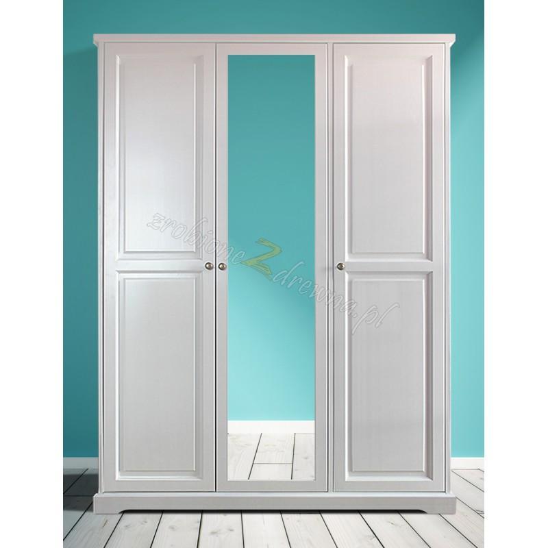 Nowoczesna szafa drewniana Parma 03 w kolorze białym>                                         <span class=