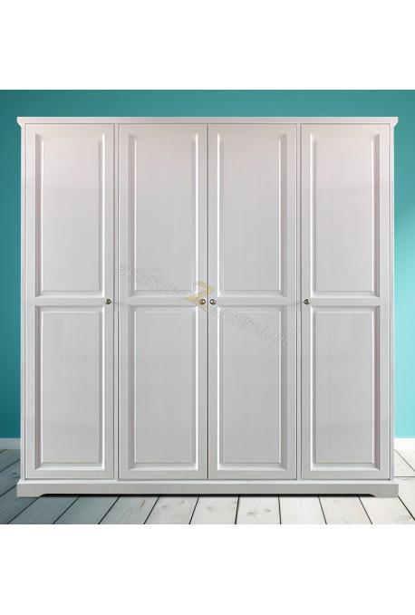 Biała szafa drewniana Parma 04 do salonu lub sypialni