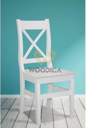 Białe krzesło drewniane Parma X 68