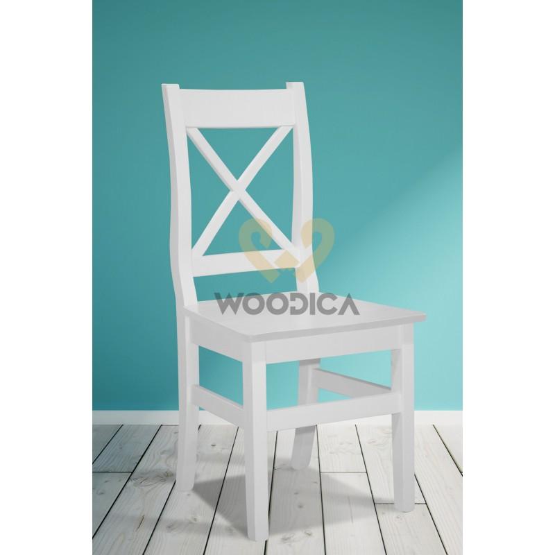 Białe krzesło drewniane Parma X 68>                                         <span class=