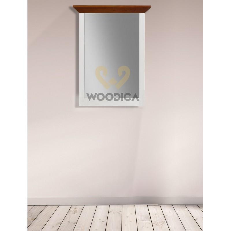 Drewniane lustro bielone Roma 31 do sypialni>                                         <span class=
