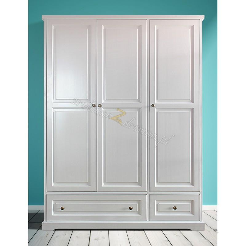 Nowoczesna szafa drewniana Parma 07 w kolorze białym>                                         <span class=