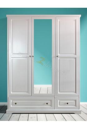 Biała szafa drewniana Parma 08 do salonu lub sypialni