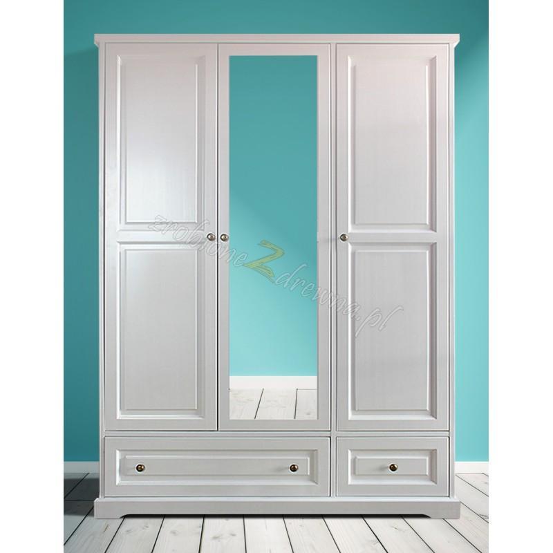 Biała szafa drewniana Parma 08 do salonu lub sypialni>                                         <span class=