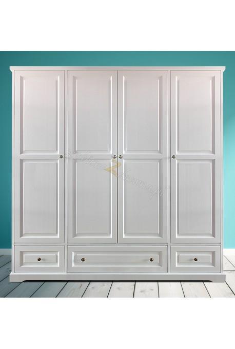Biała szafa drewniana Parma 09 w stylu nowoczesnym