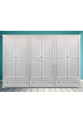 Biała szafa drewniana Parma 13 do salonu lub sypialni