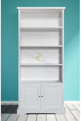Biały regał drewniany Parma 17 do salonu lub sypialni