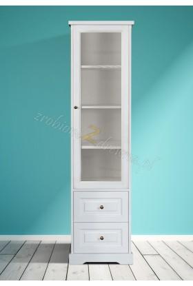 Biała witryna drewniana Parma 18 w stylu nowoczesnym