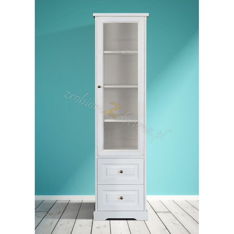 Biała witryna drewniana Parma 18 w stylu nowoczesnym>                                         <span class=