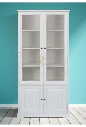 Biała witryna drewniana Parma 20 do salonu lub sypialni