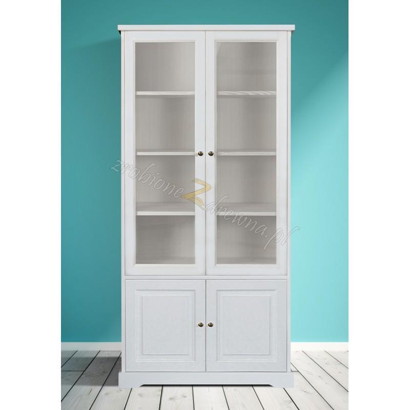 Biała witryna drewniana Parma 20 do salonu lub sypialni>                                         <span class=