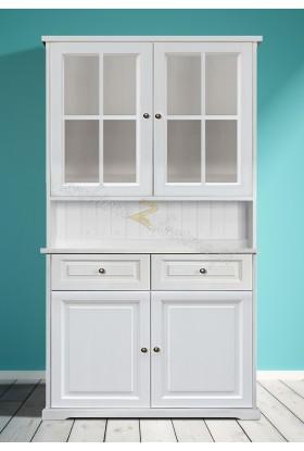 Biały kredens drewniany Parma 21 w stylu nowoczesnym
