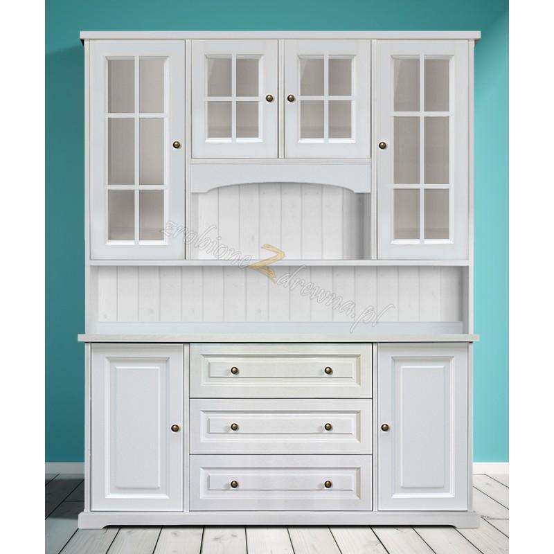 Biały kredens drewniany Parma 23 do kuchni lub salonu>                                         <span class=
