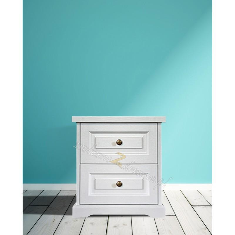 Biała komoda drewniana Parma 24 w stylu nowoczesnym>                                         <span class=