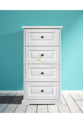 Nowoczesna komoda drewniana Parma 26 w kolorze białym
