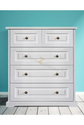 Biała komoda drewniana Parma 27 do salonu lub sypialni