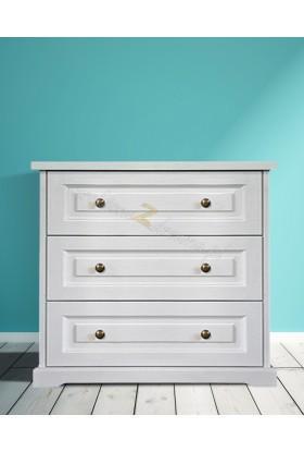Biała komoda drewniana Parma 28 w stylu nowoczesnym