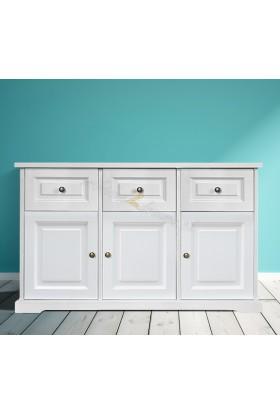 Biała komoda drewniana Parma 31 do salonu lub sypialni
