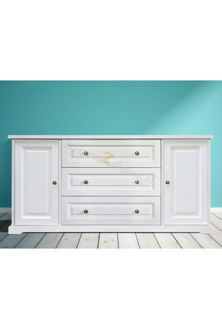 Biała komoda drewniana Parma 32 w stylu nowoczesnym