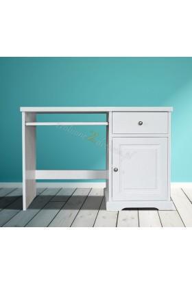 Białe biurko drewniane Parma 36 w stylu nowoczesnym