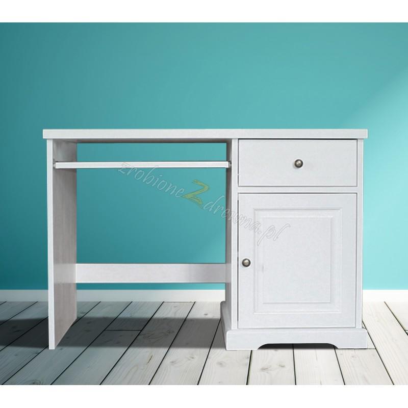 Białe biurko drewniane Parma 36 w stylu nowoczesnym>                                         <span class=