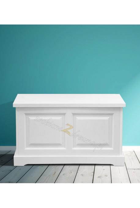 Biały kufer drewniany Parma 39 w stylu nowoczesnym
