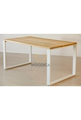 Stół dębowy na metalowych nogach 10