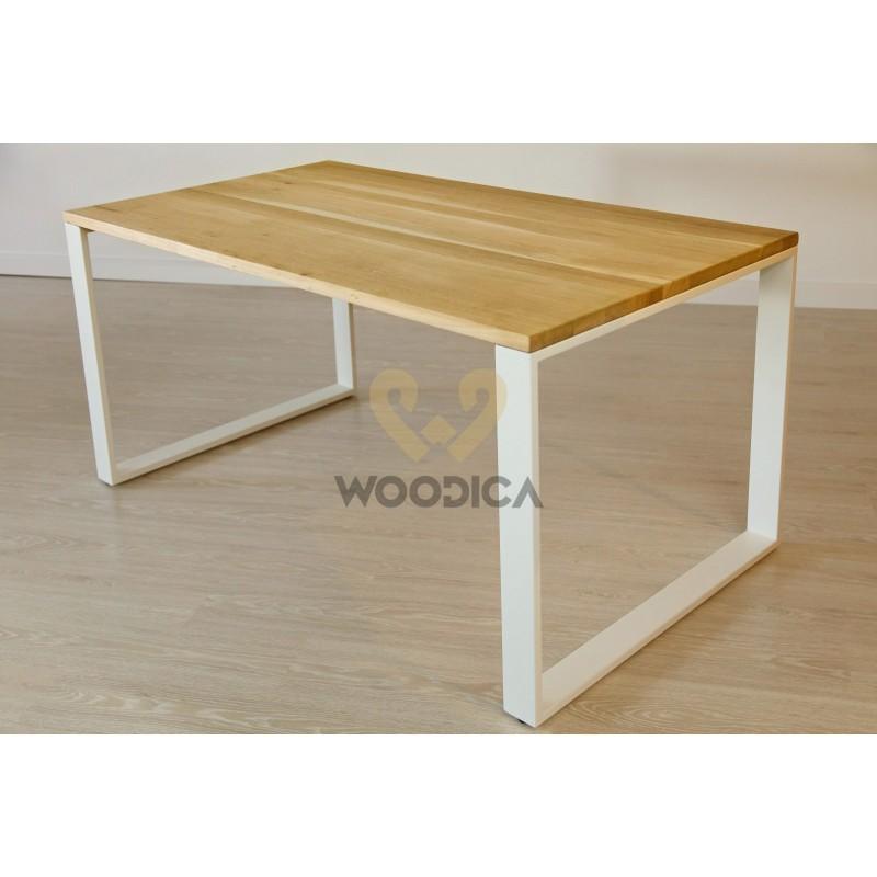 Stół dębowy na metalowych nogach 10>                                         <span class=