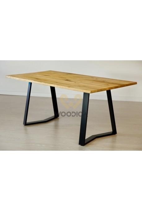 Stół dębowy na metalowych nogach 12