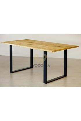 Stół dębowy na metalowych nogach 13
