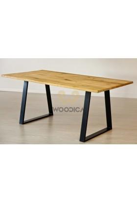 Stół dębowy na metalowych nogach 14