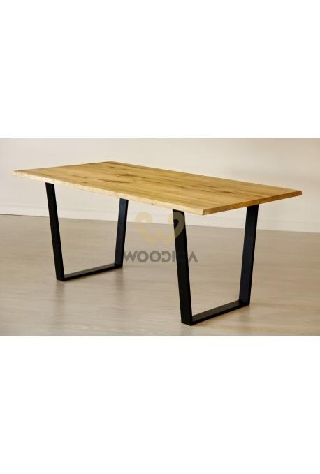 Stół dębowy na metalowych nogach 15