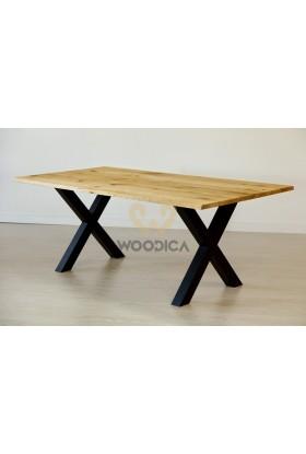Stół dębowy na metalowych nogach 17