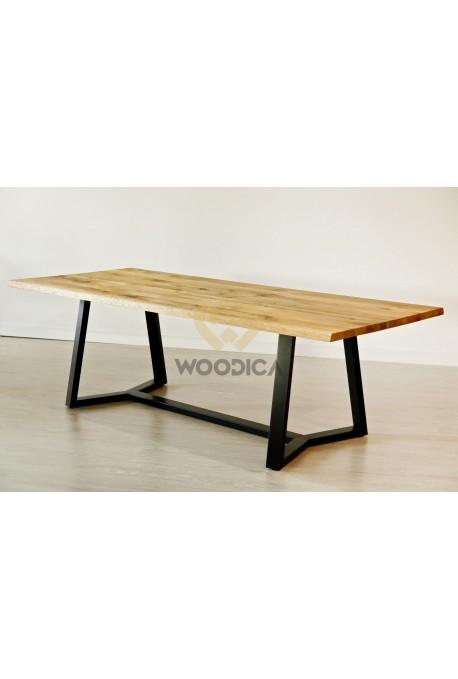 Stół dębowy na metalowych nogach 19