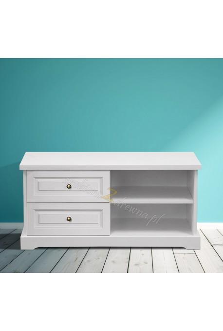 Biała szafka RTV drewniana Parma 54 w stylu nowoczesnym